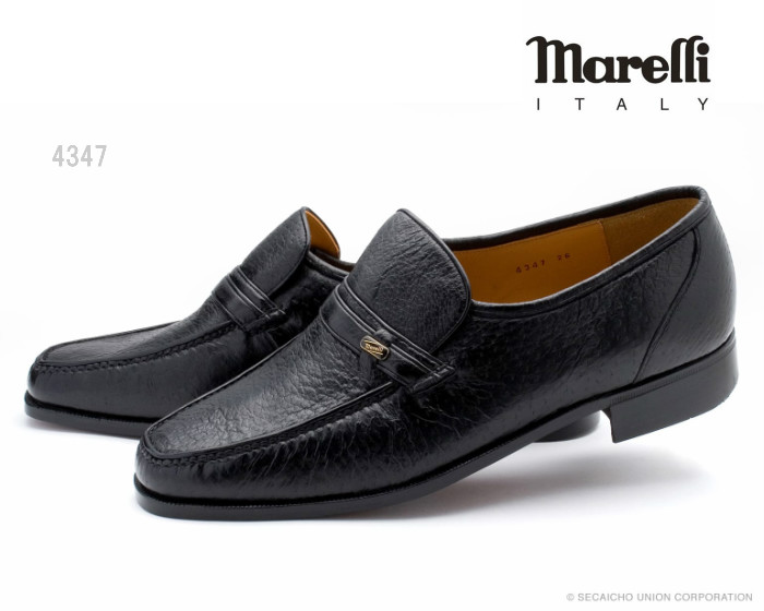 【6/5限定!Wエントリーで最大P16倍!カード】 マレリー Marelli 4347 メンズ ビジネスシューズ 本革 ペッカリー 靴