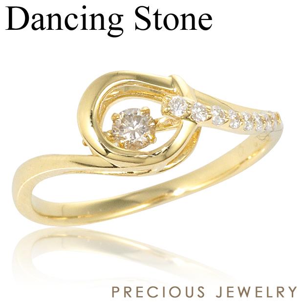 15%OFFクーポン配布中 ダンシングストーン ダイヤモンド 指輪 リング ダイヤモンド K18 18金 クロスフォー ギフト プレゼント イエローゴールド ピンクゴールド ホワイトゴールド 金属アレルギー ニッケルフリー 【prering_l】