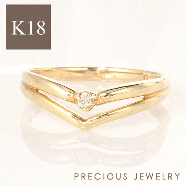 15%OFFクーポン配布中 18金 k18 18k ピンキーリング リング レディース 指輪 ダイヤモンド ゴールド ダイヤ シンプル 一粒ダイヤ 小指 ファランジリング イエローゴールド ピンクゴールド ホワイトゴールド 【prering_l】