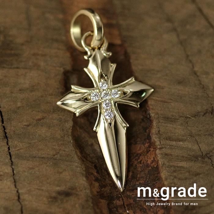 ペンダントトップ メンズ K18 18金 ゴールド イエローゴールド クロス 十字架 おしゃれ ブランド ダイヤモンド ペンダント ネックレス 重量感 おしゃれ 資産価値 一生もの prco