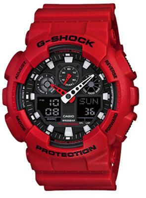 CASIO GA-100B-4AJF 腕時計 カシオ ユニセックス クオーツ 樹脂 無機ガラス