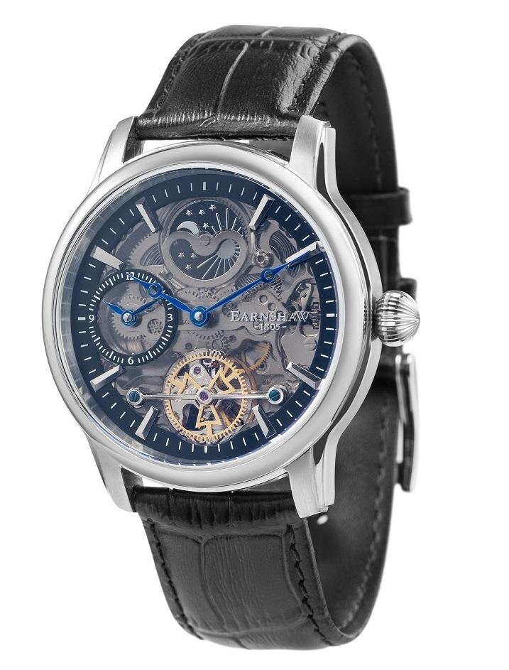 【新品】【国内正規品】EARNSHAW ES-8063-04 腕時計 自動巻き アーンショウ メンズ LONGITUDE