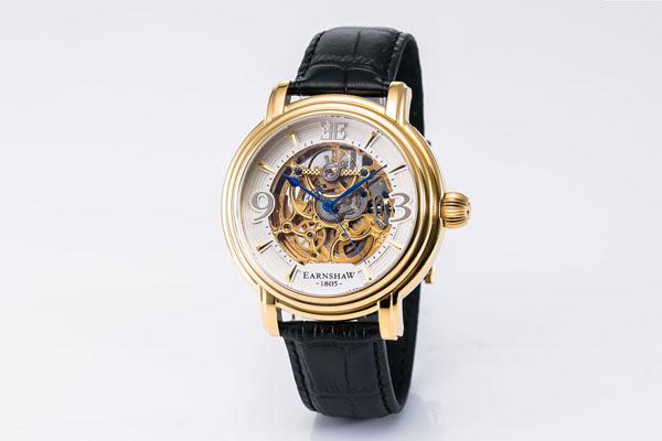 EARNSHAW ES-8011-04 腕時計 アーンショウ メンズ LONGCASE 自動巻き ステンレススチール 本皮 ミネラルクリスタルガラス