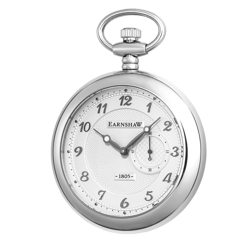 【新品】【国内正規品】EARNSHAW ES-8113-02 懐中時計 クォーツ チェーン付き  アーンショウ メンズ GRAND LEGACY