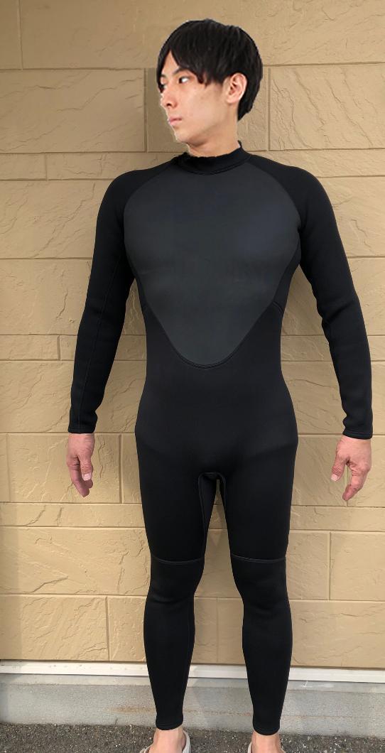 ウェットスーツ 3mm ギフ_包装 ウエットスーツ 5mm お歳暮 BLACK セミドライ バックジップ 2