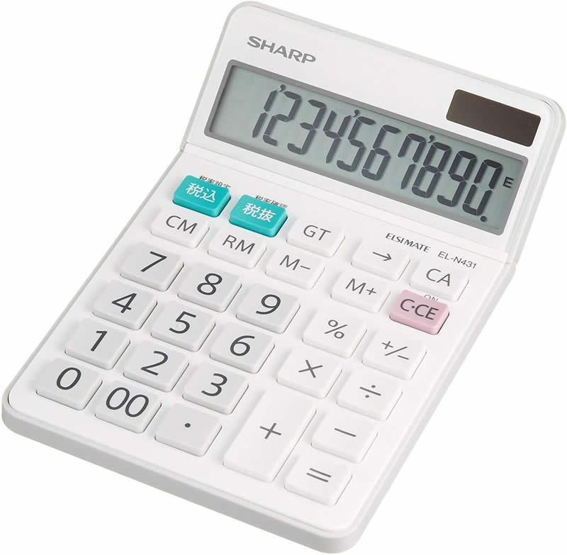 売れてます シャープ 激安通販ショッピング 注文後の変更キャンセル返品 電卓 EL-N431-X ナイスサイズタイプ 10桁