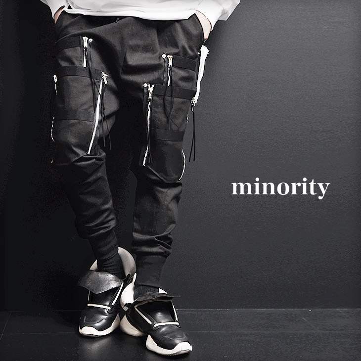 モード系 ジョガーパンツ ブラック V系 パンツ V系 ジョガーパンツ ヴィジュアル系 ファッション ジョガーパンツ ブラック ビジュアル系 パンク ロック ファッション ストリート系 メンズ パンツ 原宿系 パンツ oz オズ minority マイノリティ