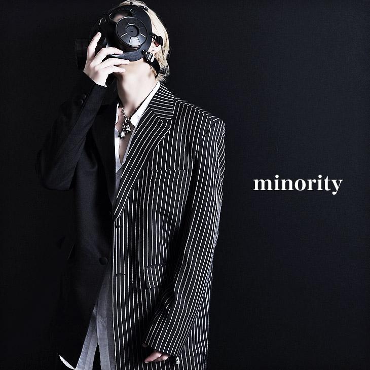 【minority】Bicolor tailored jacket モード系 メンズ ライトアウター 韓国ファッション メンズ V系 ジャケット テーラードジャケット メンズ ロック ファッション ヴィジュアル系 ファッション バイカラージャケット 原宿系 メンズ 個性的 ビジュアル ジャケット