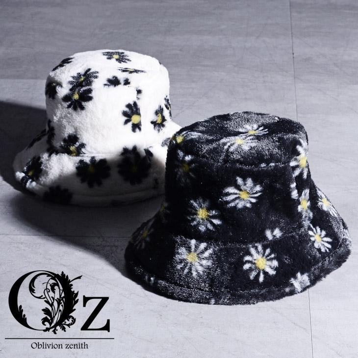 Oz select 高品質新品 Flower fur hat faux 新作販売