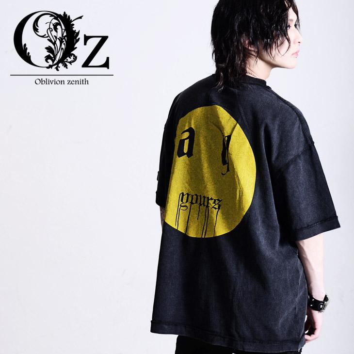 Oz select Back print pigment TEE V系 ヴィジュアル系 ビジュアル系 ファッション メンズ Tシャツ オーバーサイズ 原宿系 オンライン限定商品 個性的 原宿ファッション オルターベノム ストリート ビックシルエット ブランド ロング パンクロック 無料サンプルOK ロック ビッグT