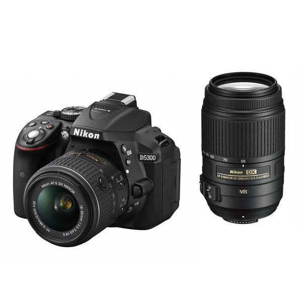 【中古】【1年保証】【美品】 Nikon D5300 18-55mm 55-300mm VR ダブルレンズキット