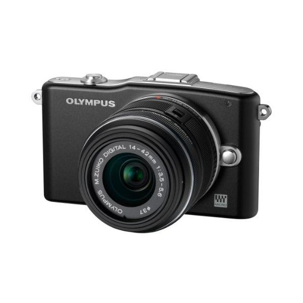 【中古】【1年保証】【美品】OLYMPUS E-PM1 レンズキット ブラック