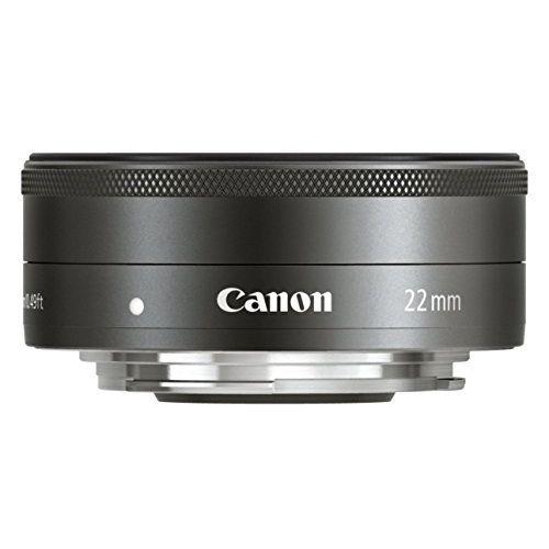 【中古】【1年保証】【美品】Canon EF-M 22mm F2 STM ブラック