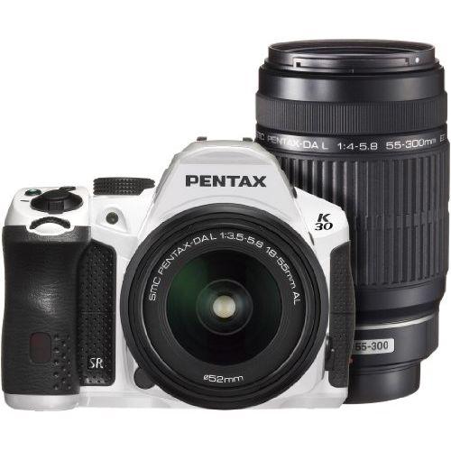 【中古】【1年保証】【美品】PENTAX K-30 ダブルズームキット DAL ホワイト