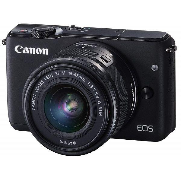 【中古】【1年保証】【美品】Canon EOS M10 15-45mm IS STM レンズキット ブラック
