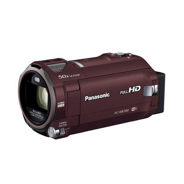【中古】【1年保証】【美品】 Panasonic ビデオカメラ HC-W870M-T ブラウン