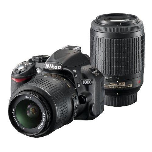 【中古】【1年保証】【美品】Nikon D3100 18-55mm 55-200mm VR ダブルズームキット ブラック