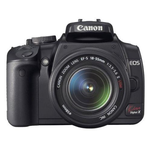 【中古】【1年保証】【美品】Canon EOS Kiss デジタル X ダブルレンズキット ブラック