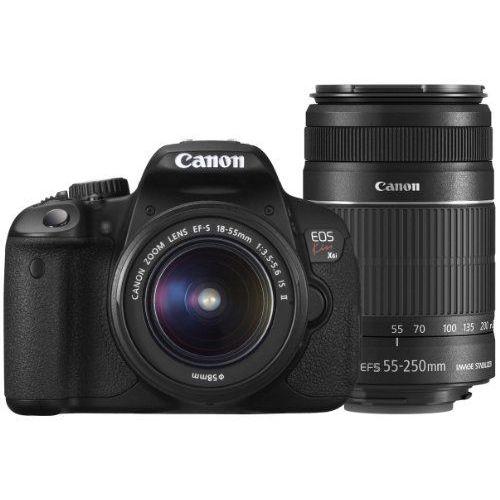 【中古】【1年保証】【美品】 Canon EOS Kiss X6i EF-S 18-55mm 55-250mm