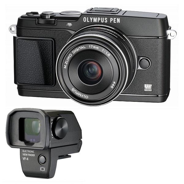 【中古】【1年保証】【美品】OLYMPUS E-P5 17mm F1.8 VF-4セット ブラック
