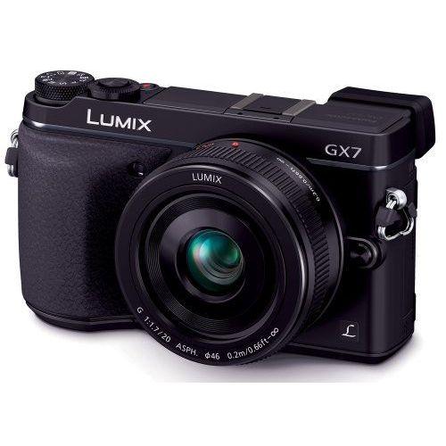 【中古】【1年保証】【美品】Panasonic LUMIX GX7 レンズキット 単焦点 ブラック