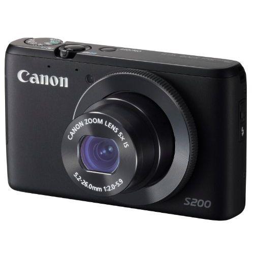 【中古】【1年保証】【美品】Canon PowerShot S200 ブラック