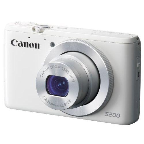 【中古】【1年保証】【美品】 Canon デジカメ PowerShot S200 ホワイト