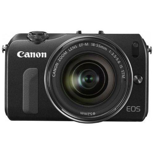 【中古】【1年保証】【美品】Canon EOS M レンズキット 18-55mm IS STM ブラック