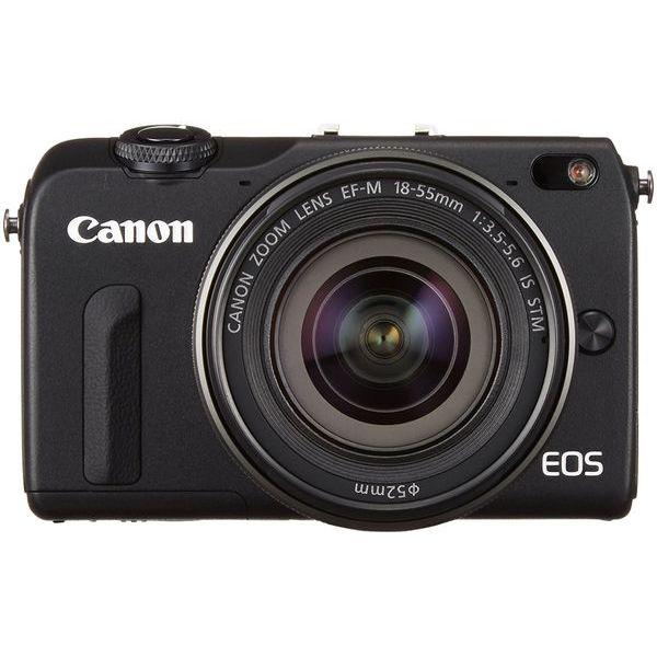【中古】【1年保証】【美品】Canon EOS M2 レンズキット 18-55mm IS STM ブラック