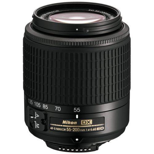 【中古】【1年保証】【美品】 Nikon AF-S DX ED 55-200mm F4-5.6G ブラック