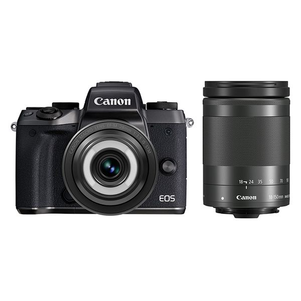【中古】【1年保証】【美品】Canon EOS M5 28mm 18-150mm ダブルレンズキット