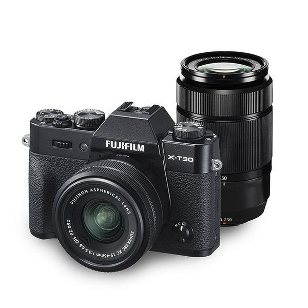 中古 高級品 新作アイテム毎日更新 FUJIFILM X-T30 ダブルズームキット XC 15-45mm 1年保証 + 50-230mm ブラック 美品 II