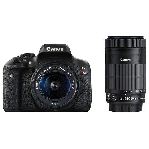 【中古】【1年保証】【美品】Canon EOS Kiss X8i 18-55mm 55-250mm ダブルズームキット