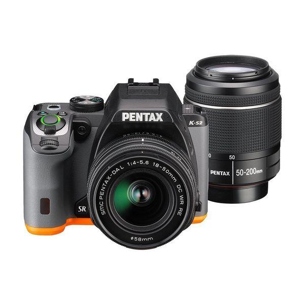 【中古】【1年保証】【美品】PENTAX K-S2 ダブルズームキット ブラック×オレンジ