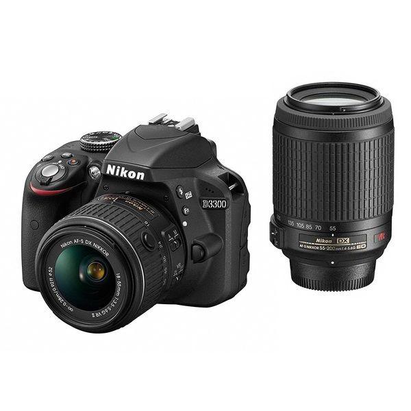 【中古】【1年保証】【美品】Nikon D3300 18-55mm 55-200mm VR ダブルズームキット
