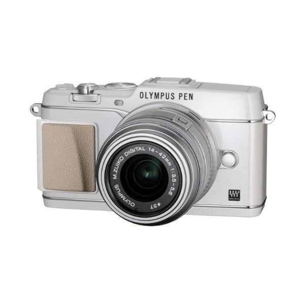 【中古】【1年保証】【美品】 OLYMPUS E-P5 14-42mm VF-4セット ホワイト