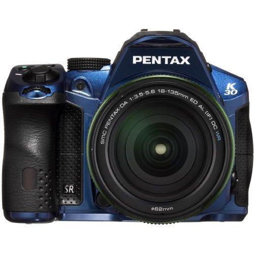 【中古】【1年保証】【美品】PENTAX K-30 DA 18-135mm WR クリスタルブルー
