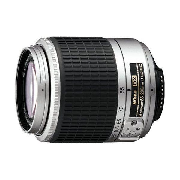 【中古】【1年保証】【美品】Nikon AF-S DX 55-200mm F4-5.6G ED シルバー