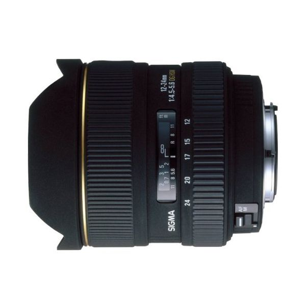 【中古】【1年保証】【美品】SIGMA 12-24mm F4.5-5.6 EX DG HSM キヤノン