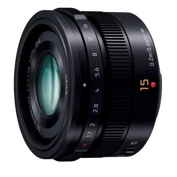 即出荷 中古 Panasonic LEICA DG SUMMILUX 15mm 休日 美品 1年保証 F1.7 H-X015-K ASPH. ブラック