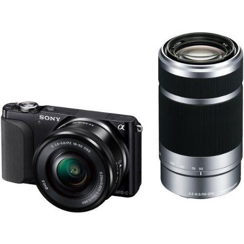 【中古】【1年保証】【美品】SONY NEX-3N ダブル 16-50 + 55-210mm ブラック