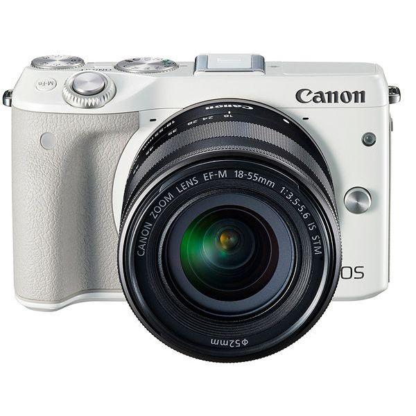 【中古】【1年保証】【美品】Canon EOS M3 EF-M 18-55mm IS STM レンズキット ホワイト