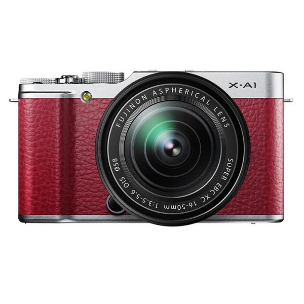 【中古】【1年保証】【美品】FUJIFILM X-A1 16-50mm レンズキット レッド