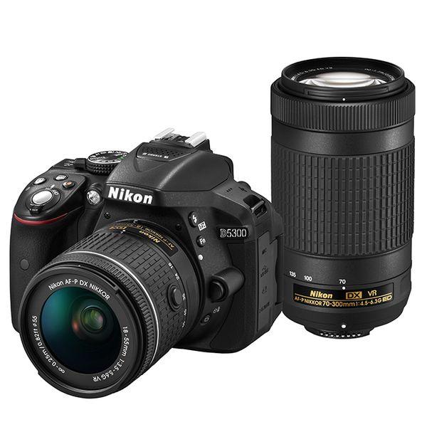 【中古】【1年保証】【美品】Nikon D5300 AF-P ダブルズームキット ブラック