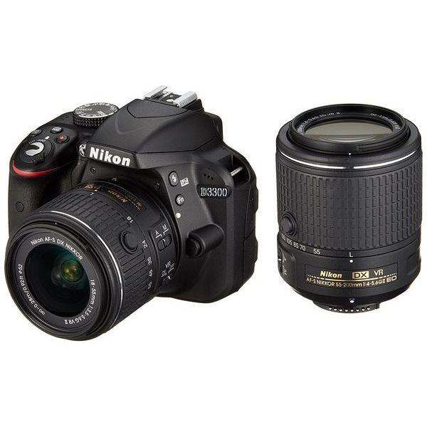 【中古】【1年保証】【美品】Nikon D3300 18-55mm 55-200mm II VR ダブルレンズキット