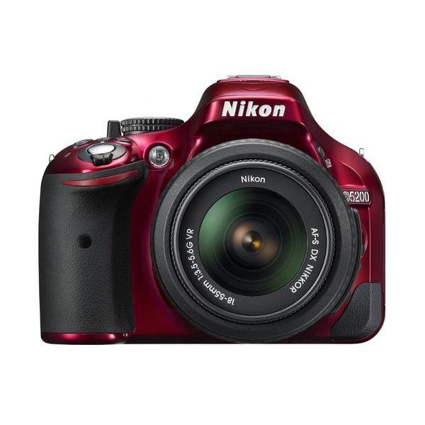 【中古】【1年保証】【美品】Nikon D5200 AF-S 18-55mm VR レッド