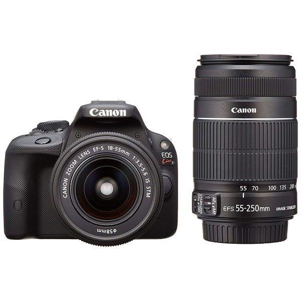 【中古】【1年保証】【美品】Canon EOS Kiss X7 18-55mm 55-250mm ダブルズームキット