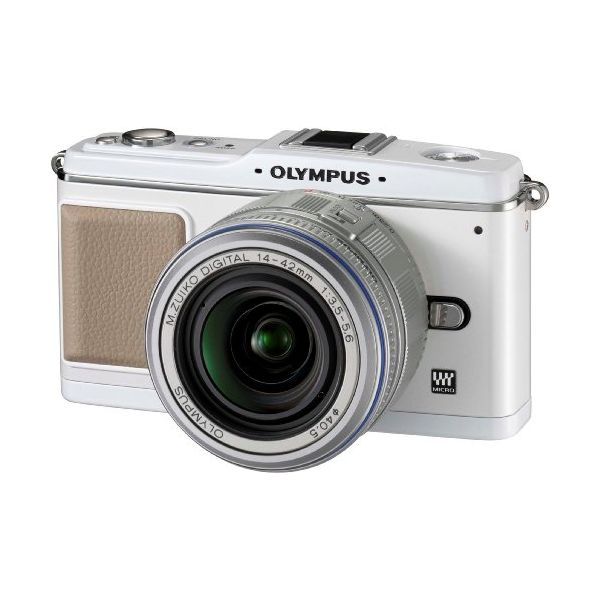 【中古】【1年保証】【良品】OLYMPUS E-P1 レンズキット ホワイト