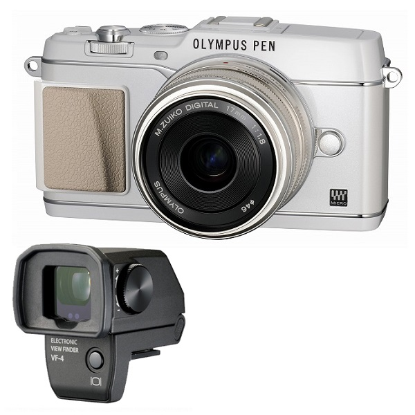 【中古】【1年保証】【美品】OLYMPUS E-P5 17mm F1.8 VF-4セット ホワイト