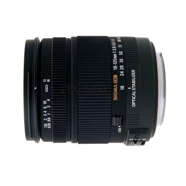【中古】【1年保証】【美品】SIGMA 18-125mm F3.8-5.6 DC OS HSM キヤノン